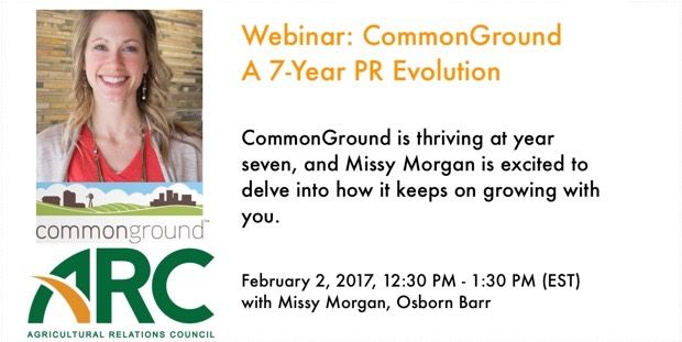 Webinar: CommonGround - A 7-Year PR Evolution