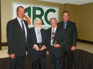 Daren Williams, The Beef Check Off, Inductees Richard Howell and  Gary Myers, ARC President Mike Opperman, Charleston Orwig (Shown Left to Right)