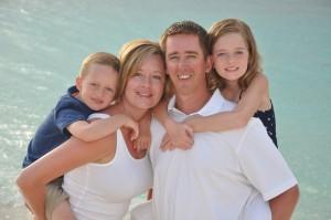 Sullivan (6), Kristy, Tom, Sophia (10)