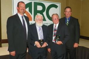 ARC first vice president Daren Williams, Richard Howell, Gary Myers, ARC president Mike Opperman