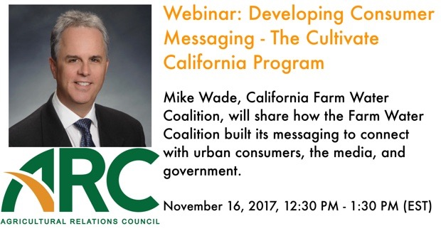 Webinar: Developing Consumer  Messaging - The Cultivate  California Program